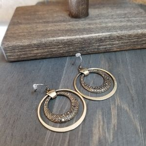 Lucky Brand - Bronze Circular Pattern Earrings